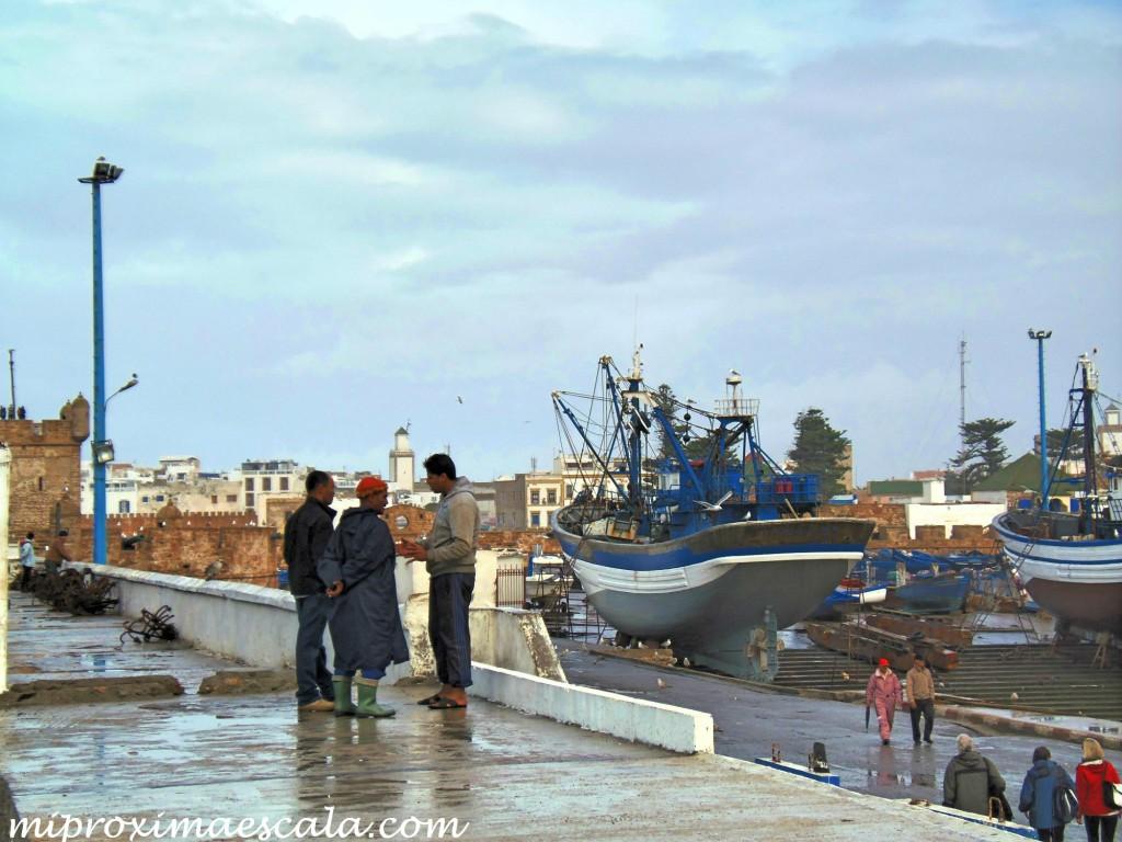 Y en Marruecos como las personas interactúaban en su día a día.